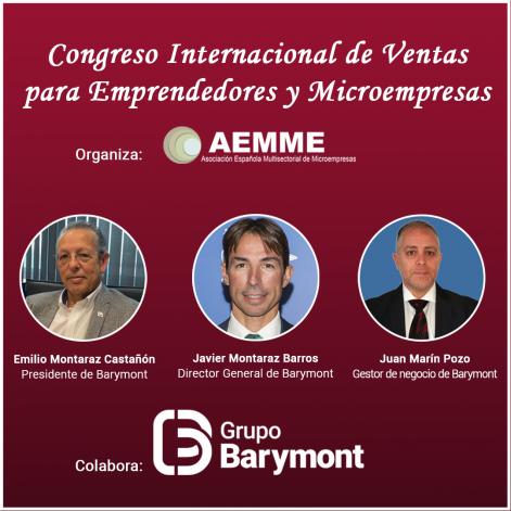 Barymont participará en el Congreso internacional para emprendedores organizado por la AEMME