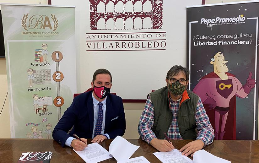 Barymont y el CB Villarrobledo firman un acuerdo de colaboración para potenciar la economía del club